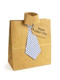 Sac de chemise de jour de pères et de cadeau de lien Images libres de droits