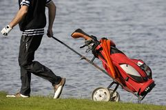 Sac de clubs de golf Images libres de droits
