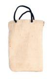 Sac de coton sur le fond blanc avec l'ombre Photo libre de droits