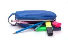 Sac de crayon Photographie stock