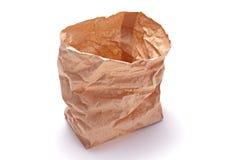 Sac de déjeuner de papier de Brown Images stock