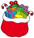 Sac de Noël avec des cadeaux Photographie stock