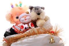 Sac de Noël avec des jouets Photo stock