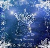 Sac de Noël complètement des cadeaux Images stock