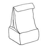 Sac de nourriture blanc de mémoire de papier de module d'isolement par produit alimentaire conteneur Image libre de droits