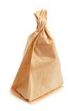 Sac de papier chiffonné avec des taches de graisse Photo libre de droits