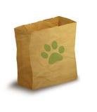 Sac de papier d'animal familier Image libre de droits