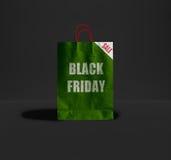 Sac de papier de Black Friday Photos libres de droits