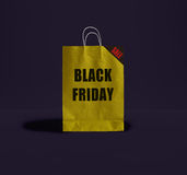 Sac de papier de Black Friday Photos stock