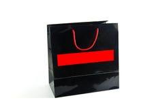 Sac de papier noir photographie stock