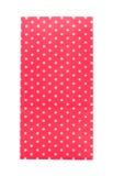 Sac de papier rouge d'isolement sur le fond blanc Image libre de droits