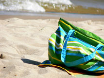Sac de plage Image stock