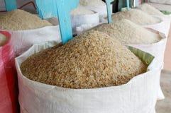 Sac de riz Photographie stock