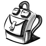 Sac de sac à dos d'école ou de touriste d'isolement sur le blanc Photographie stock libre de droits