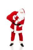 Sac de transport de Santa Claus avec des présents Image libre de droits