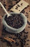 Sac des grains de café Photo libre de droits