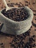 Sac des grains de café Images libres de droits
