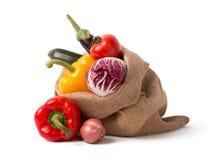 Sac des légumes frais Photos libres de droits