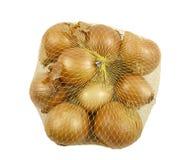 Sac des oignons frais Photo libre de droits