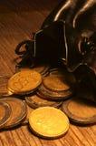 Sac des pièces de monnaie image libre de droits