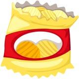 Sac des pommes chips Image stock