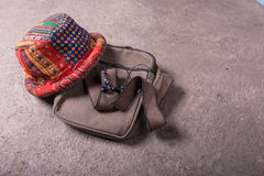 Sac et chapeau Photo stock