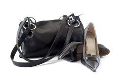 Sac et chaussures Images stock