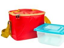 sac isolé par rouge de stockage de nourriture photos libres de droits