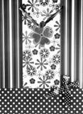 Sac noir pour des cadeaux Photographie stock
