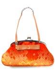 Sac orange lumineux Image stock