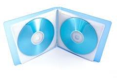 Sac pour des disques de CD et de DVD Photographie stock libre de droits