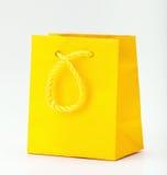 Sac à provisions jaune. Photo stock
