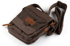 Sac quotidien de Brown Photographie stock libre de droits