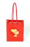 Sac romantique de cadeau Photo stock
