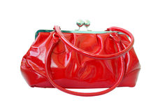 Sac rouge Photo stock