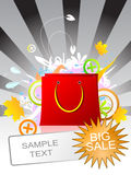 Sac rouge Images stock