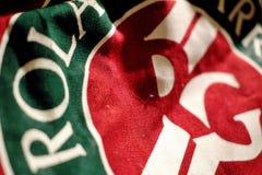 Sac rouge avec le logo de Roland Garros Images stock