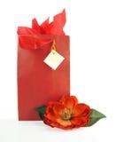 Sac rouge de cadeau Photos stock