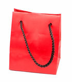 Sac rouge de cadeau Photos stock