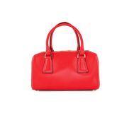Sac rouge de femmes d'isolement photo stock
