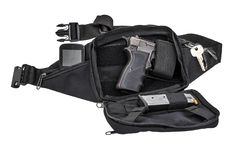 Sac tactique de ville pour les armes de transport cachées avec un insi d'arme à feu Photo stock