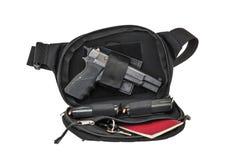 Sac tactique de ville pour les armes de transport cachées avec un insi d'arme à feu Photographie stock libre de droits
