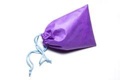 Sac violet de coton Photos libres de droits