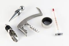 Sacacorchos y accesorios para el vino Fotos de archivo