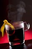 Sacador caliente del té Foto de archivo