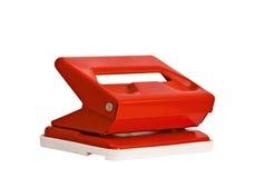 Sacador de agujero rojo de la oficina Imagenes de archivo