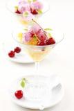 Sacador de la piña con helado de la cereza Imagen de archivo libre de regalías