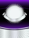 Sacador de plata púrpura del Año Nuevo Fotos de archivo libres de regalías