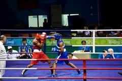 Sacador olímpico del boxeo Fotografía de archivo