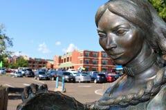Sacagawea staty arkivfoton